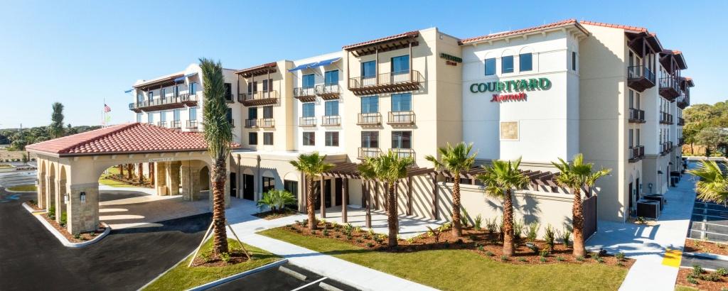 Hotels In St. Augustine, Fl   Courtyard St. Augustine Beach - Map Of Hotels In St Augustine Florida