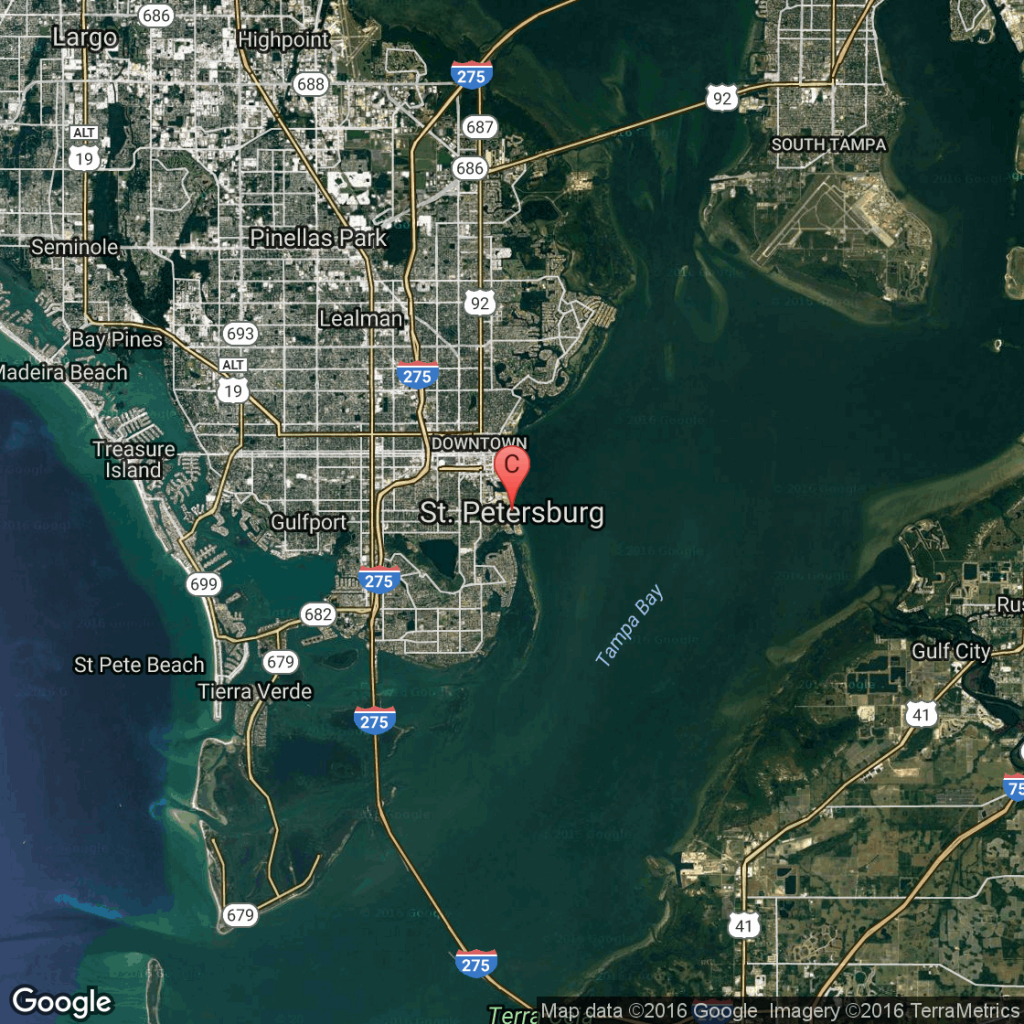 Hotels Near I-275 In St. Petersburg, Florida   Usa Today - Map Of Hotels On St Pete Beach Florida