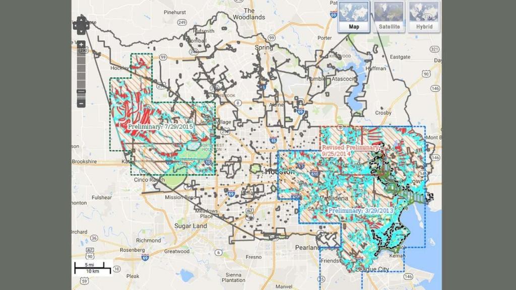 Houston Flood Map - Map Of Flooding In Houston (Texas - Usa) - Houston Texas Floodplain Map