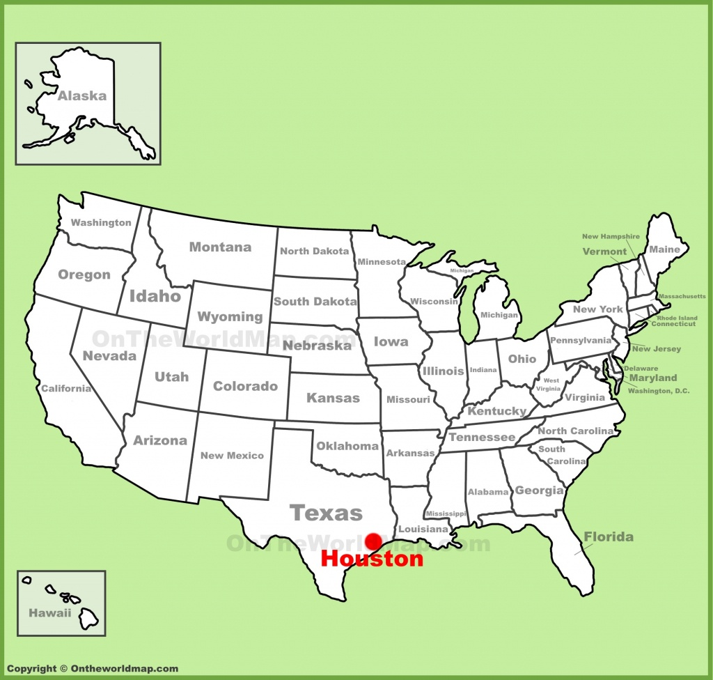 Houston Location On The U.s. Map - Show Map Of Houston Texas