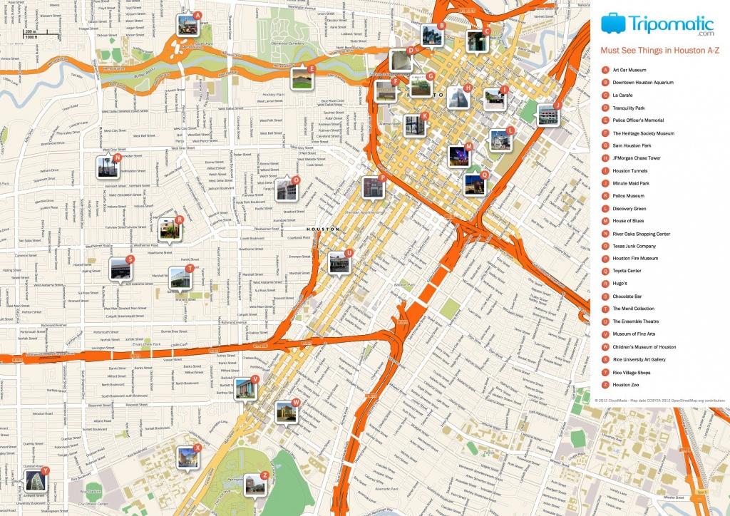 Houston Printable Tourist Map | Homeschooling & Unschooling - Downtown Houston Map Printable