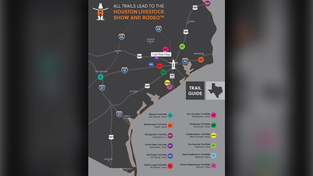 Houston Rodeo Trail Rides Hit The Road - Texas Bbq Trail Map