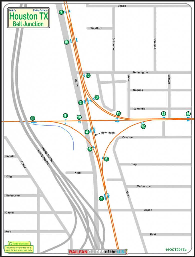 Houston Tx - Belt Junction Railfan Guide - Junction Texas Map