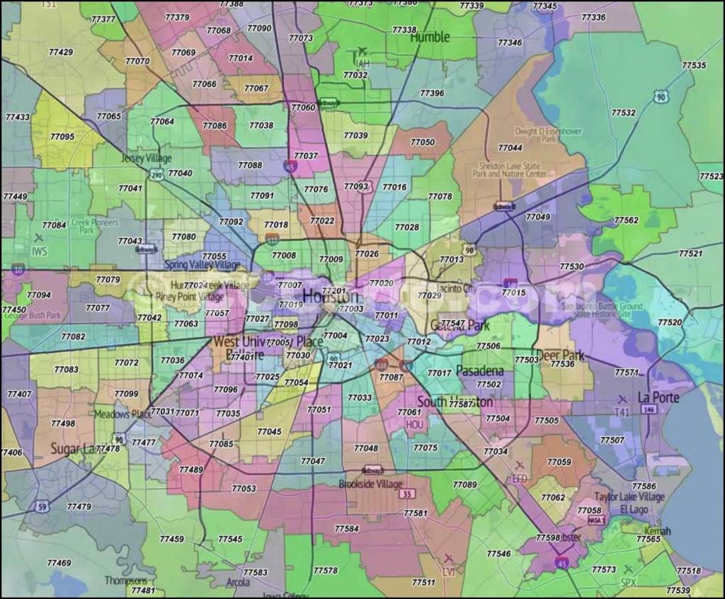 Houston Zip Code Map | Houston Zip Code Map In 2019 | Zip Code Map - Houston Zip Code Map Printable