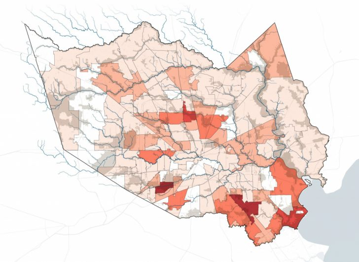 Houston Texas Flood Map
