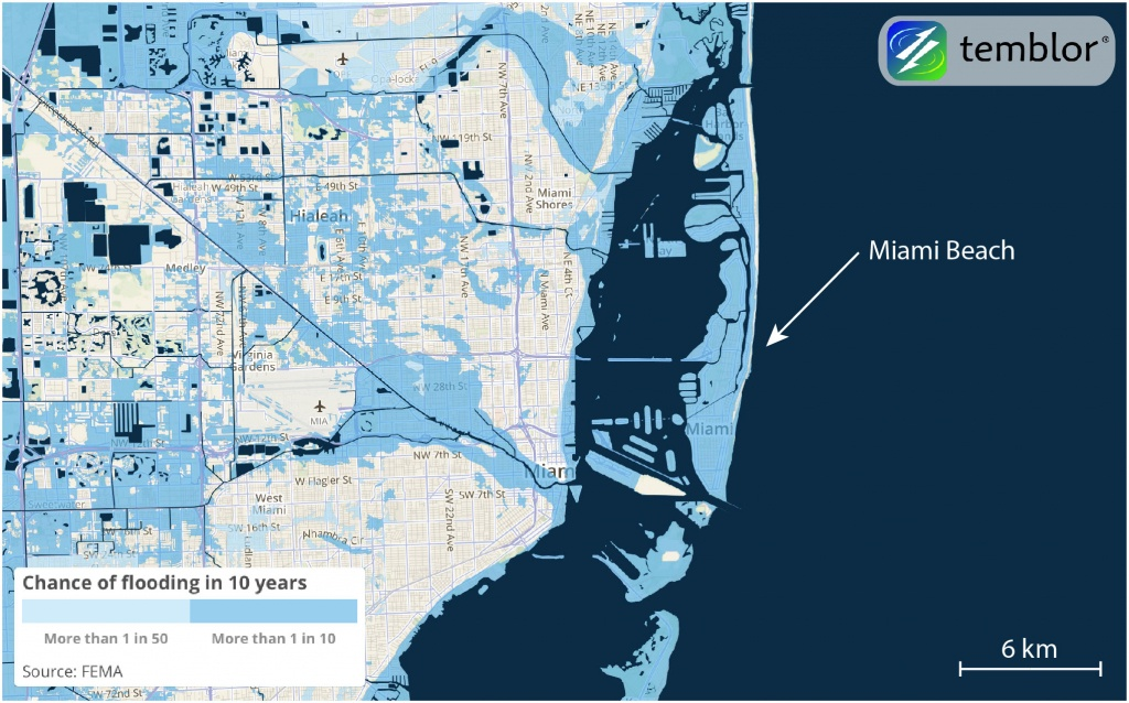 How Hurricane Irma Could Be So Destructive To Florida | Temblor - Florida Underwater Map