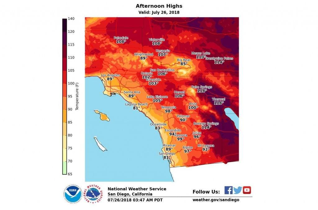 How Long Will Heat Wave Linger Over Southern California? – Orange - California Heat Map