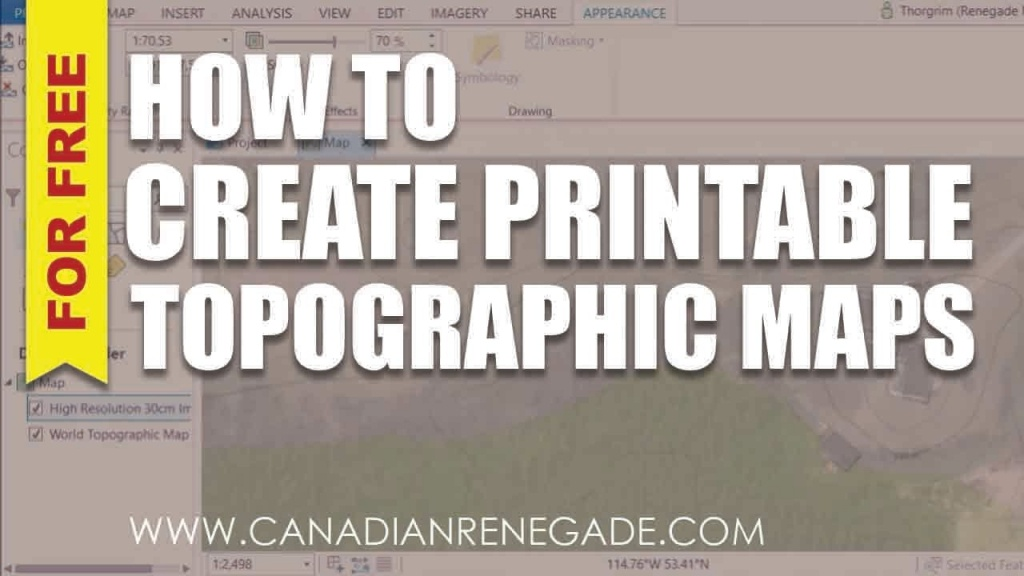 How To Create A Printable Topographic Map In Arcgis Pro - Youtube - How To Make A Printable Map