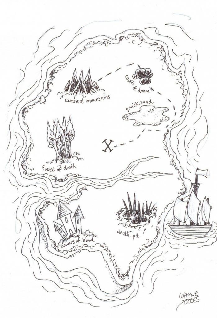 How To Draw A Pirate Treasure Map | Nautical | Pirate Treasure Maps - Make Your Own Treasure Map Printable