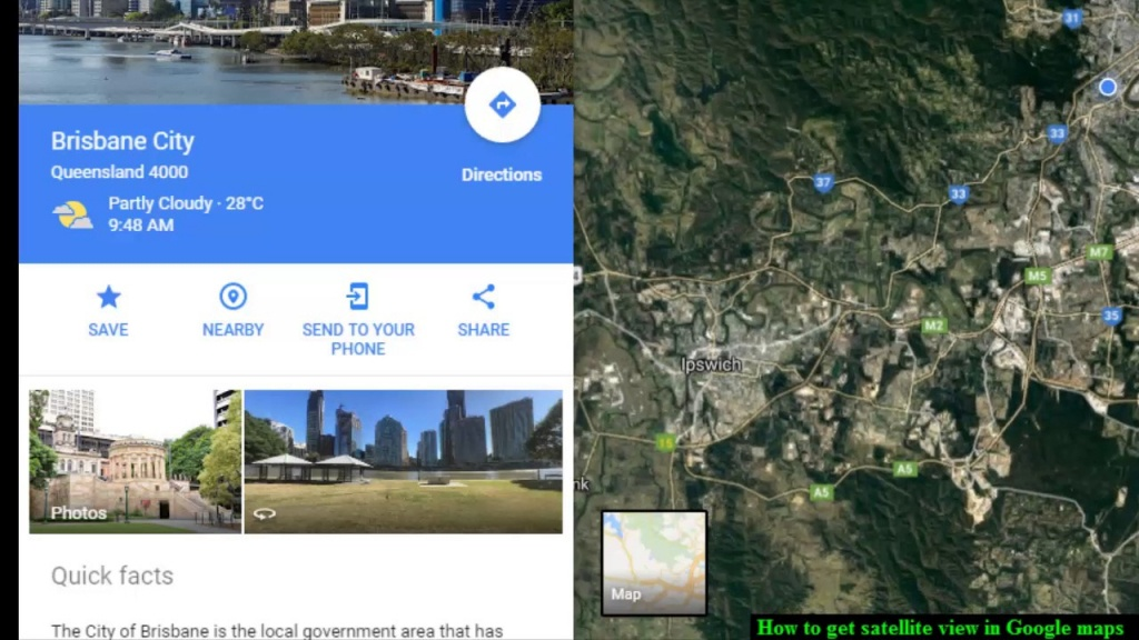 How To Get Satellite View In Google Maps - Youtube - Google Maps Satellite Texas