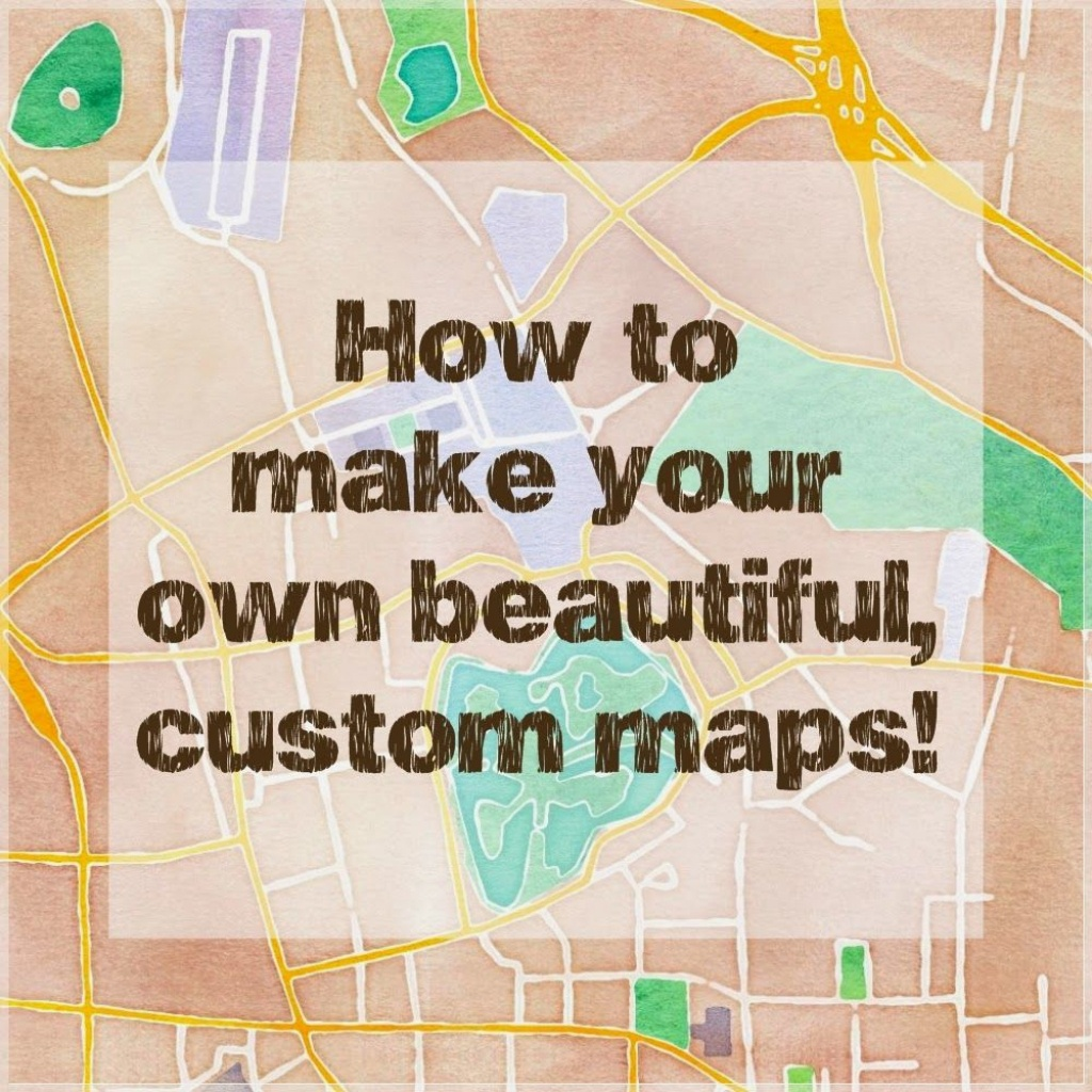 How To Make Beautiful Custom Maps To Print, Use For Wedding Or Event - How To Create A Printable Map For A Wedding Invitation