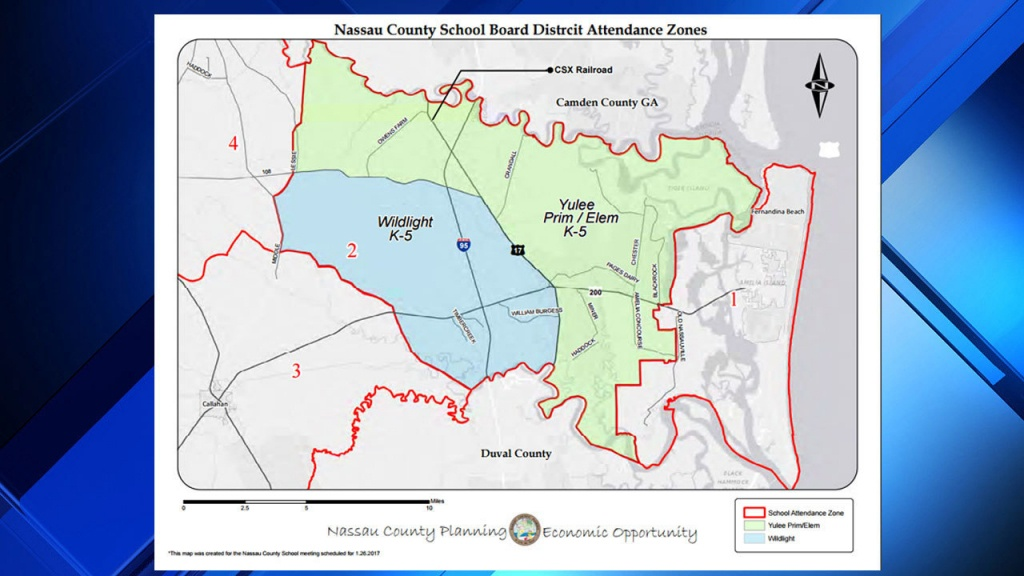 Hundreds Of Students Must Switch Schools In Nassau County - Yulee Florida Map