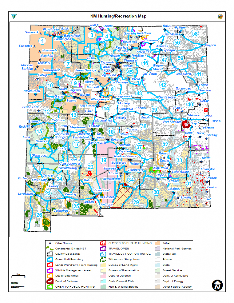 Hunting Unit Maps | Bureau Of Land Management - Printable Red Deer Map