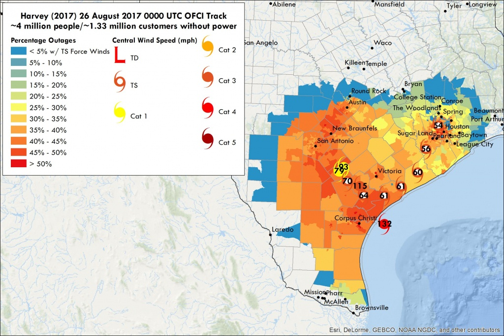 Hurricane Harvey Power Outages |Vehicle To Grid Uk - Entergy Texas Outage Map