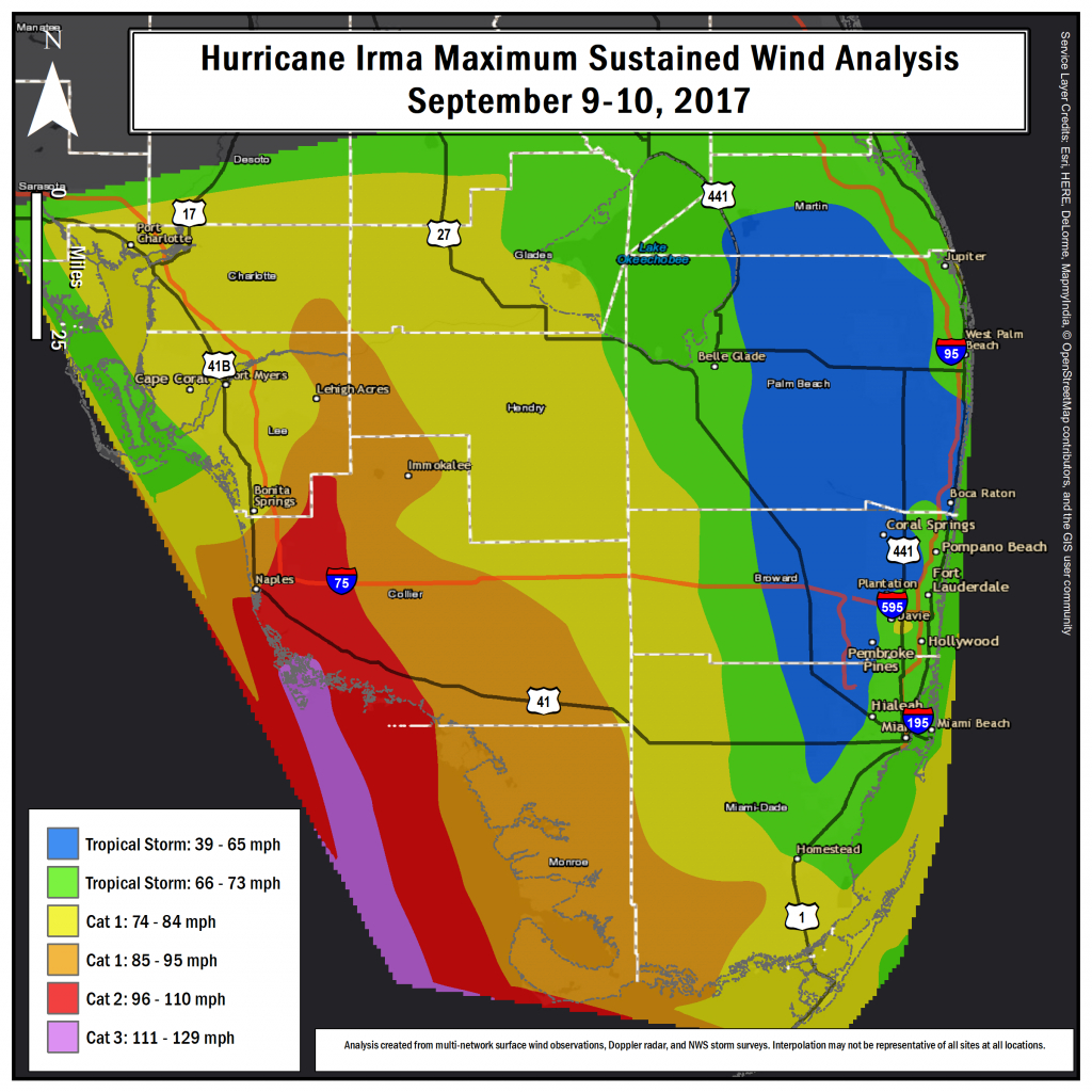Hurricane Irma Local Report/summary - Florida Doppler Radar Map