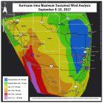 Hurricane Irma Local Report/summary   Florida Wind Speed Map