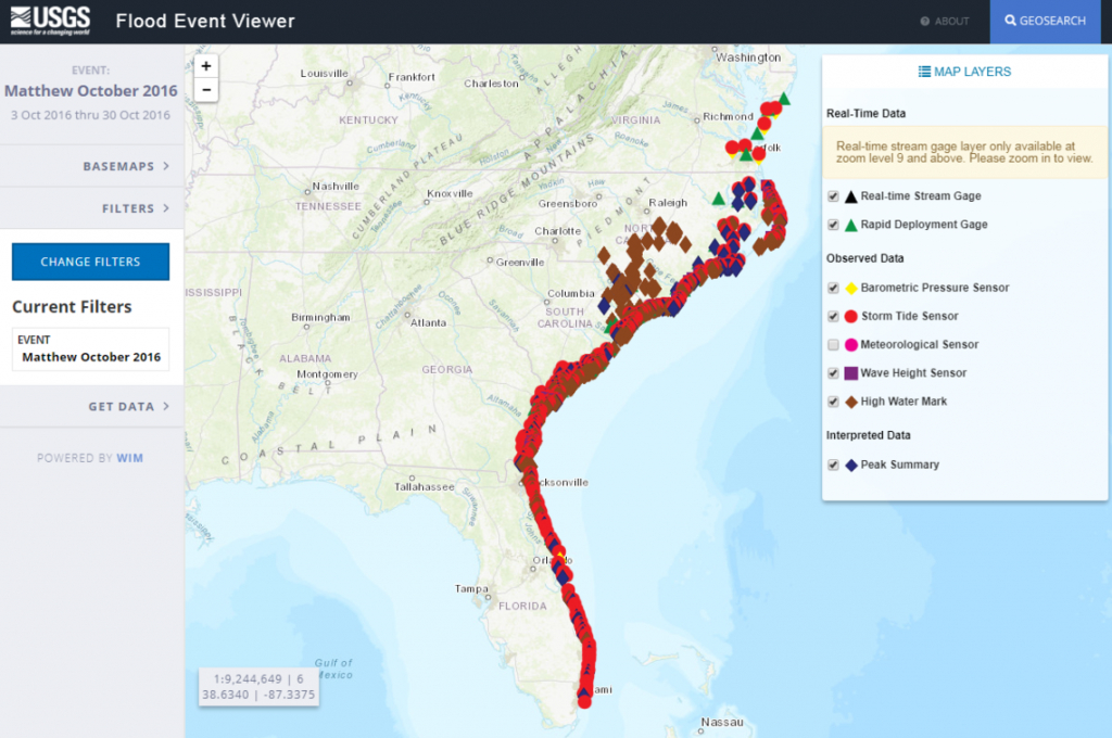 Hurricane Matthew: Flood Resources And Tools - Florida Flood Map