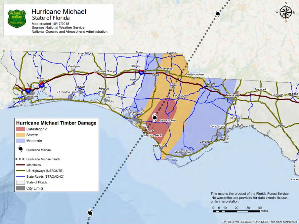 Hurricane Michael 2018 - Florida Hurricane Damage Map