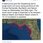 Hurricane Michael   Timeline, Aftermath & Statistics   Mexico Beach Florida Map