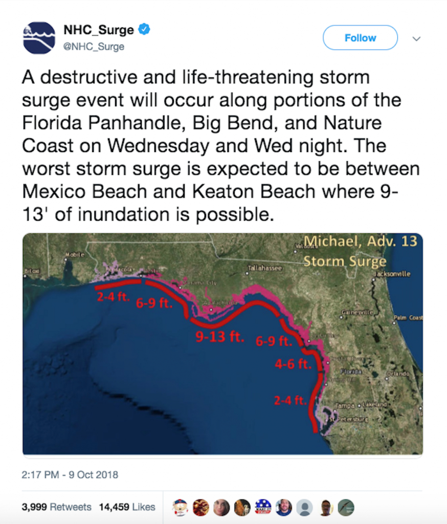 Hurricane Michael - Timeline, Aftermath & Statistics - Mexico Beach Florida Map