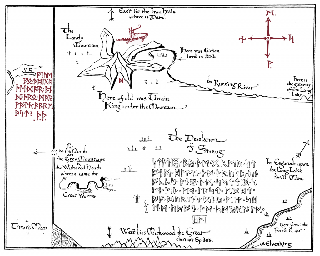 I Made A Printable Version Of Thror's Map.(X-Post From R/tolkienfans - Thror's Map Printable