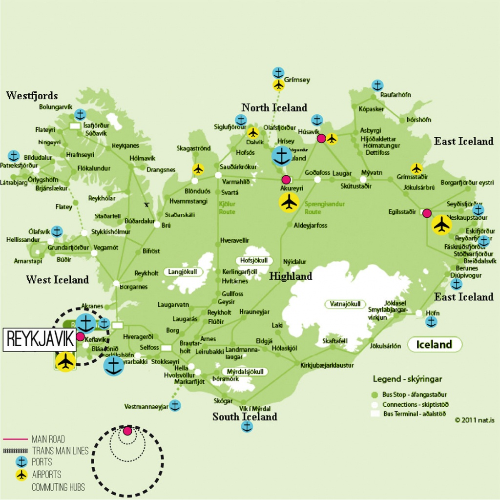 Iceland Map Printable And Travel Information | Download Free Iceland - Printable Map Of Iceland