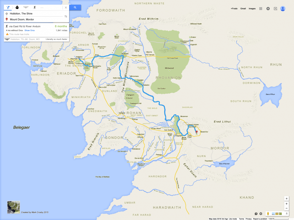 If Frodo & Sam Had Google Maps Of Middle Earth – Brilliant Maps - Free Printable Satellite Maps