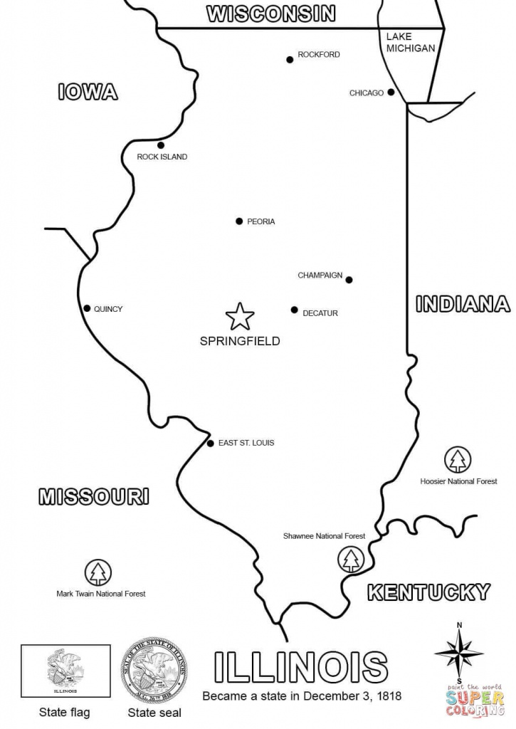 Illinois Map Coloring Page | Free Printable Coloring Pages - Printable Map Of Illinois