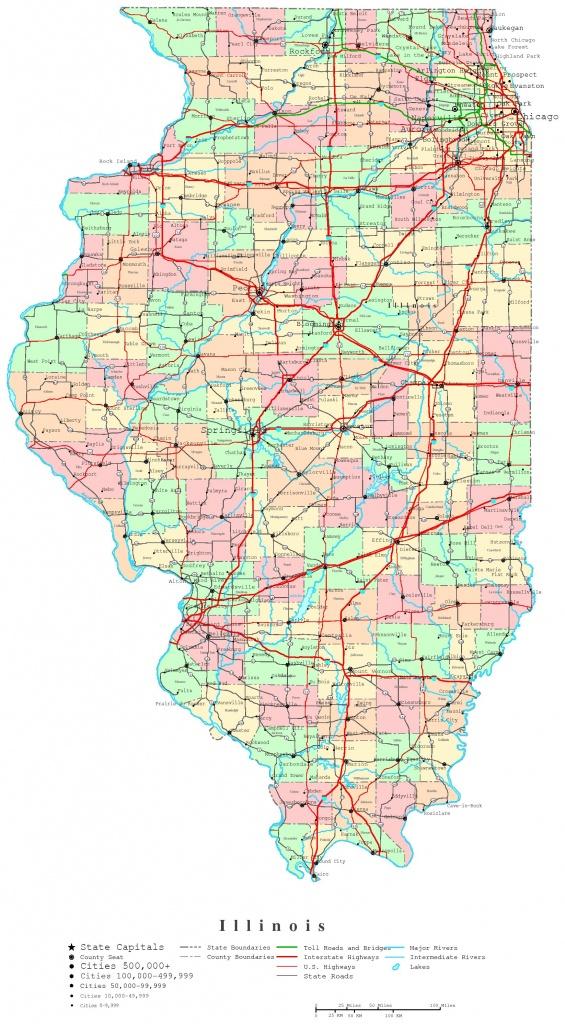 Illinois Printable Map - Illinois State Map Printable
