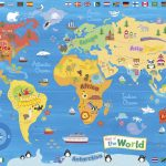 Illustrated Map Of The World For Kids (Children's World Map) | 4K   Children's Map Of The World Printable