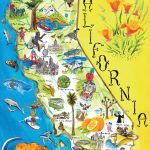 Illustrated Tourist Map Of California. California Illustrated   California Tourist Map