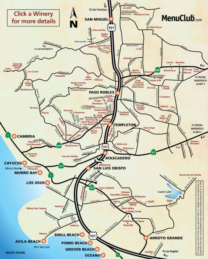 San Luis Obispo California Map