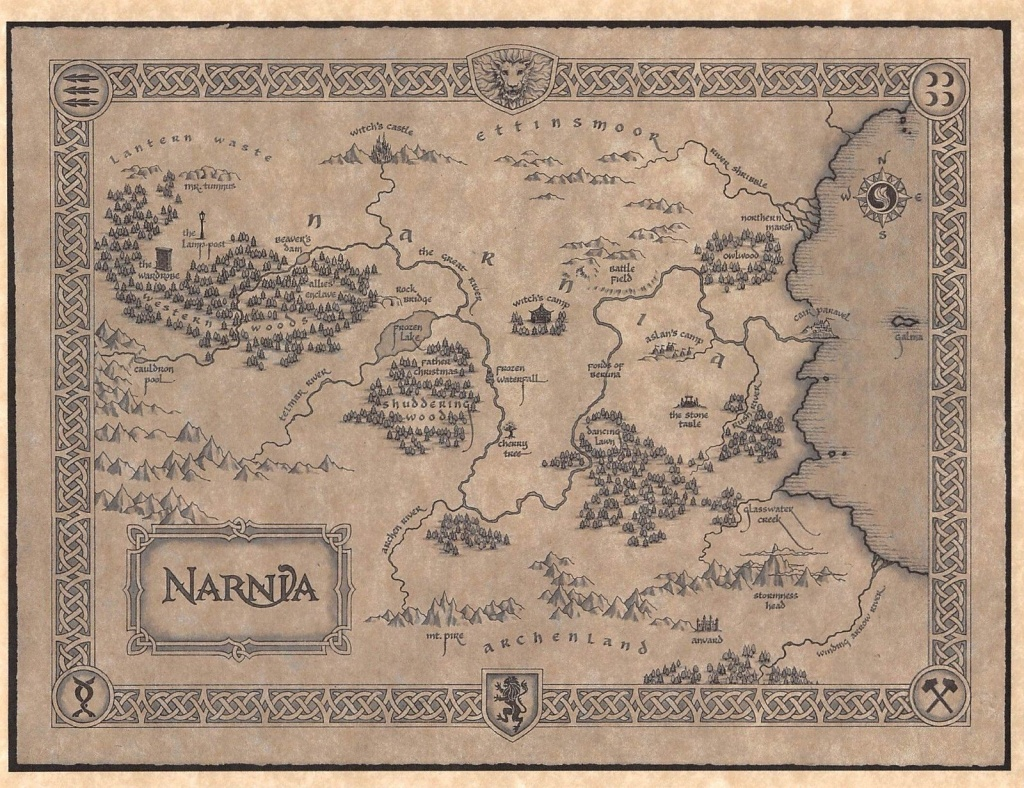 Image Result For Map Of Narnia Printable | Office In 2019 | Map Of - Printable Map Of Narnia