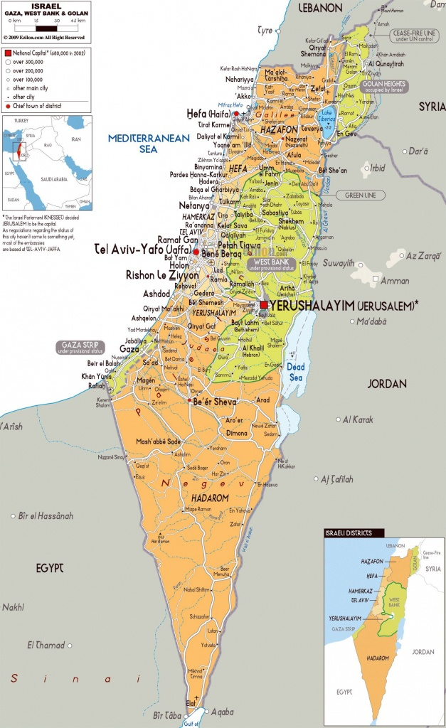 Image Result For Printable Map Of Israel | Israel Map | Map, Israel - Printable Map Of Israel