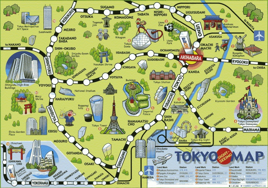 Image Result For Printable Map Of Tokyo Attractions | Japan In 2019 - Printable Map Of Tokyo