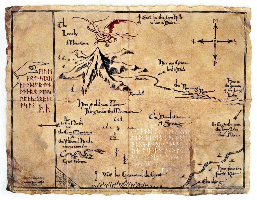Image Result For The Lonely Mountain Map   Maps And More In 2019 - Thror's Map Printable