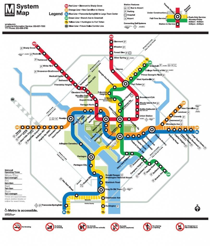 Image Result For Wmata Map | Ui Feature - Nidc【2019】 | Washington - Printable Washington Dc Metro Map