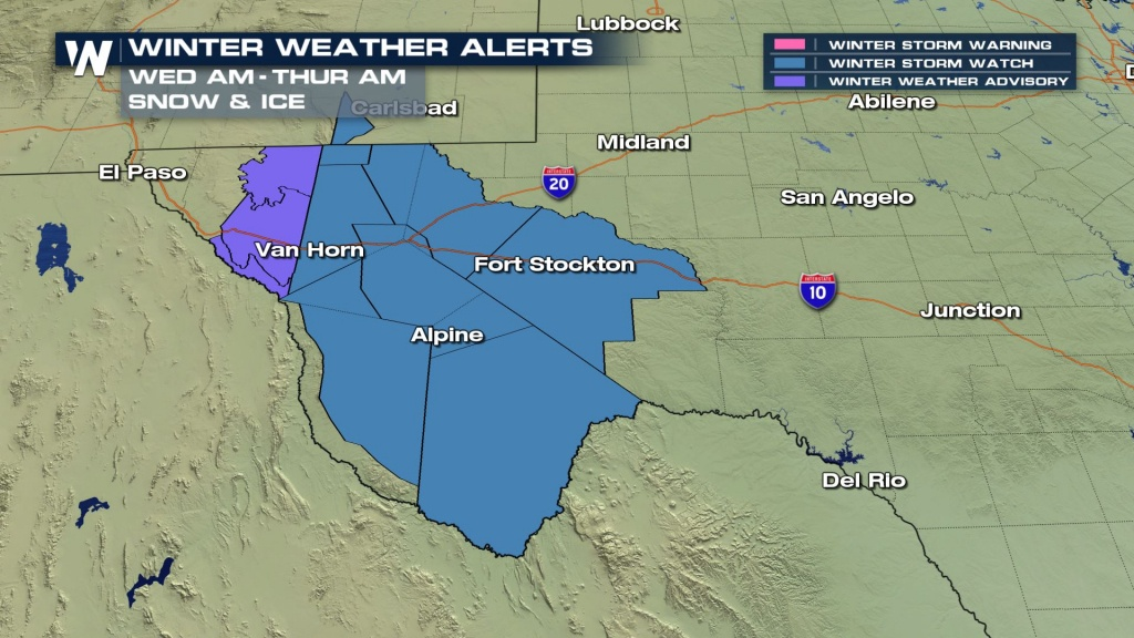 Increasing Snow Chances Forwest Texas? - Weathernation - West Texas Weather Map