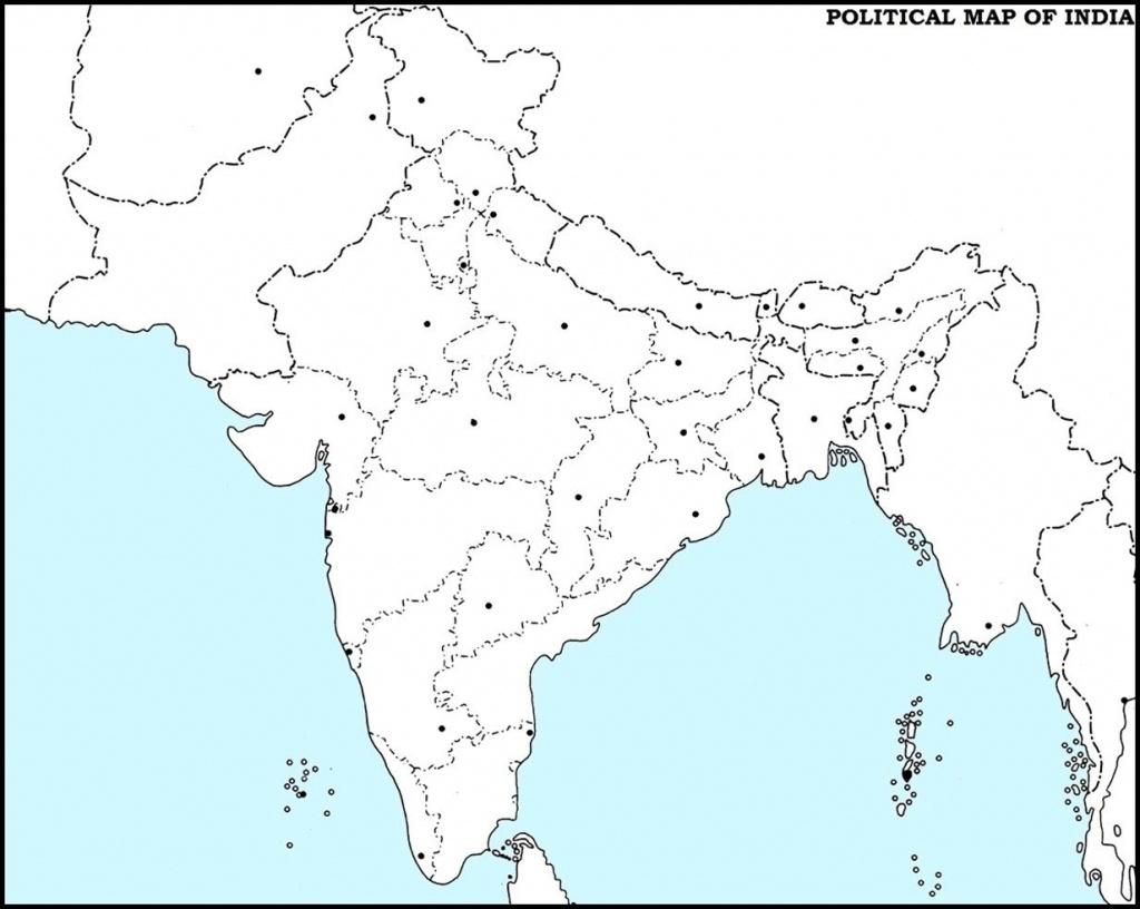 India Outline Map Pdf | Dehazelmuis - India Outline Map A4 Size Printable