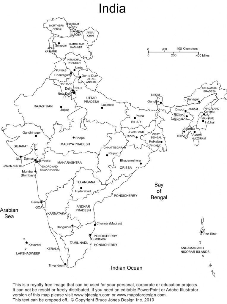 India Printable, Blank Maps, Outline Maps • Royalty Free - Map Of India Blank Printable