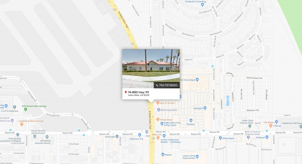 Indian Wells | Pacific Sotheby's International Realty - Indian Wells California Map