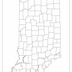 Indiana Blank Map   Indiana County Map Printable