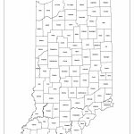 Indiana Labeled Map   Indiana County Map Printable