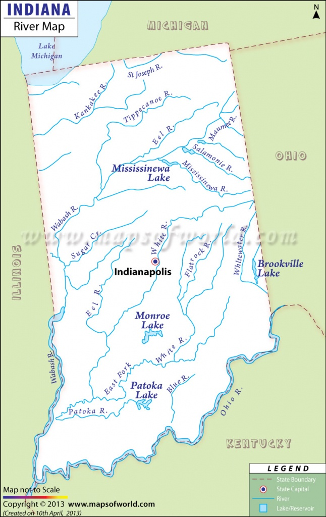 Indiana Rivers Map, Rivers In Indiana - Michigan River Map Printable