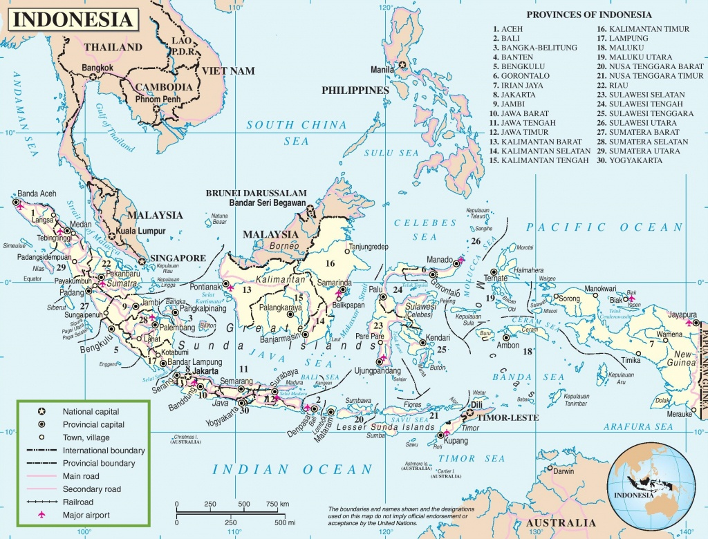 Indonesia Road Map - Printable Map Of Indonesia