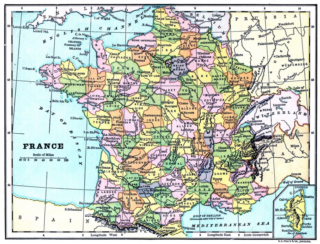 Instant Art Printable - Map Of France - The Graphics Fairy - Printable Map Of France