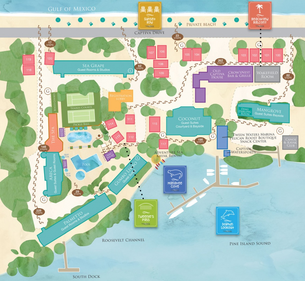 Interactive Map - Captiva Island Resort - 'tween Waters Inn, Sanibel - Google Maps Sanibel Island Florida
