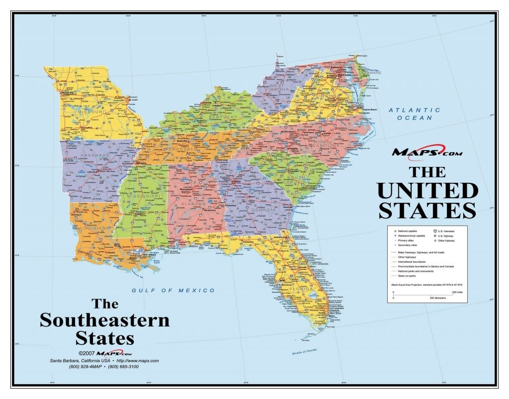 Interactive Map Of Southeastern United States   World Map - Printable Map Of Southeast United States