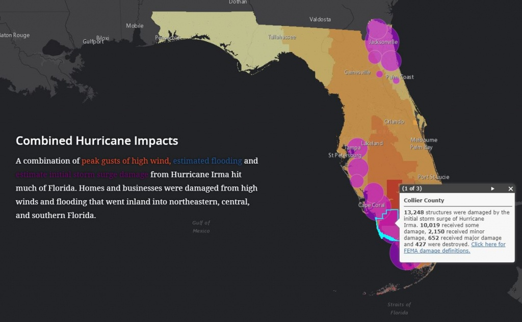 Interactive Story Map Shows Hurricane Impacts And Florida's - Interactive Florida County Map