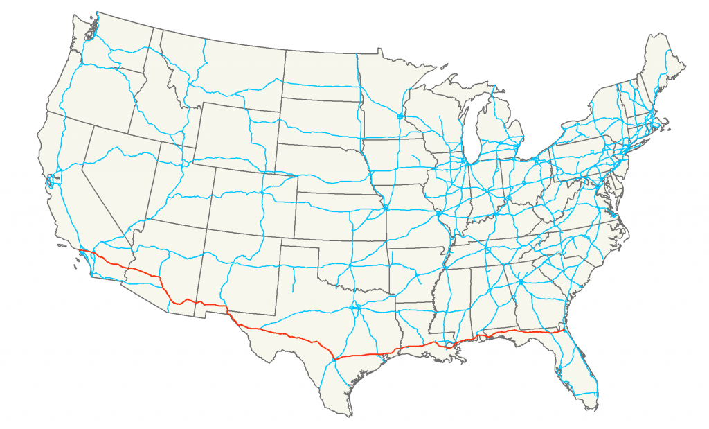 Interstate 10 - Wikipedia - Map Of I 40 In Texas